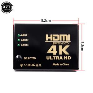 Image 2 - 1PCS 3 Port 4K*2K 1080P Switcher HDMI Switch Selector 3x1 Splitter Box Ultra HD for PC DVD HDTV Xbox PS3 PS4 Multimedia HOT sale