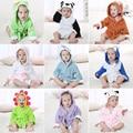 Cute Animals Baby Hooded Towel Baby Blanket Bathrobe Infant Toddlers Bath Towel Children Kids Bathing Robe BM0201
