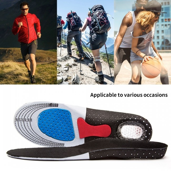 Unisex Free Size Orthotic Arch Support Sport Shoe Pad Sport Running Gel Insoles Insert Cushion For Men Women