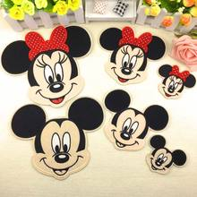 Cartoon Kids Minnie Mickey Iron On Patches Clothes For Clothing Girls Boys Embroidered Pathces