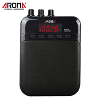 Aroma 5W Mini Cube Guitar Amp Recorder Speaker TF Card Slot Compact Portable Multifunction Guitar Amplifier
