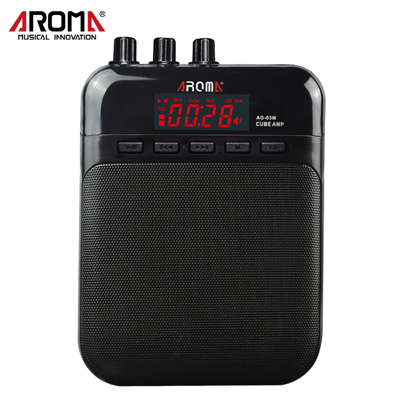 AG-03M 5W Guitar Amp Great For Practice With Clean and Distortion Sound Micro SD Card Slot Mini Microphone in USB Cable Power