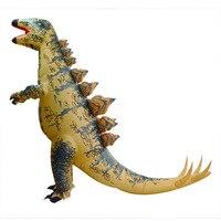 Inflatable Dinosaur Costumes Adult Stegosaurus Mascot Anime Cosplay Dinosaur clothes Jumpsuit Halloween Costume for men women