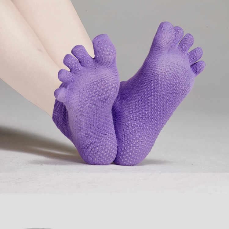 Лидер продаж Для мужчин Для женщин профессиональные носки для йоги наборы с перчатками 2 шт. носки с пятью раздельными пальцами + перчатки противоскользящие спинки тренажерный зал спортивные носки Фитнес
