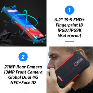 Image 3 - Ulefone Armor 6 IP68 Waterproof Mobile Phone Android 8.1 Helio P60 Octa Core 6GB 128GB Face ID NFC IP69K Rugged Smartphone
