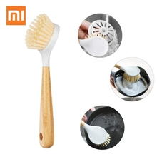 Xiaomi Youpin Multifunction Nylon Dish Bowl with Bamboo Long Handle Kitchen Pot Pan Cleaner Cleaning Brush