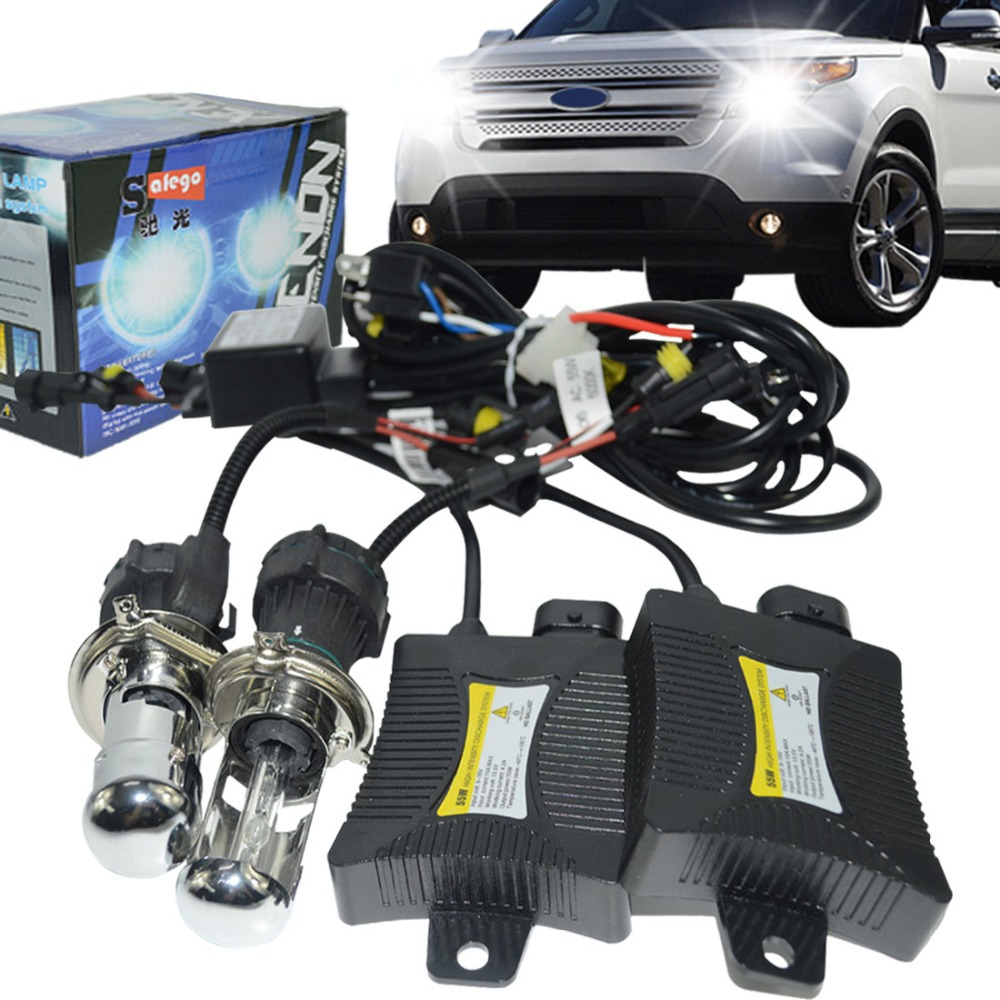 ФОТО 12V H4-3 Bi xenon H4 HID Bixenon H4 hid kit hi lo 12V 55W Car light source 6000K 8000K 4300K 5000K BI-XENON H4 headlight bulbs