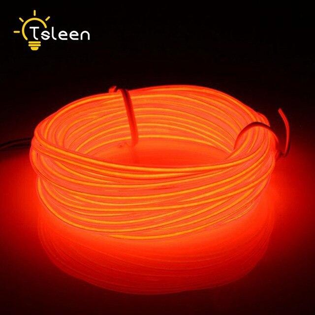 TSLEEN 2/3/5 mt Flexible EL Draht Batteriebetriebene Flexible LED ...