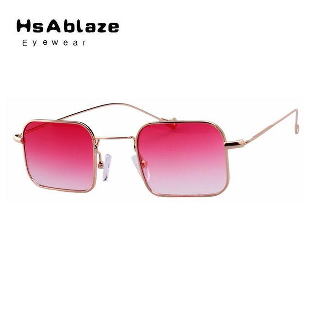 656a8a1a4673f Hsablaze eyewear new quadrado pequeno de metal quadro óculos de sol lente  gradiente óculos de sol