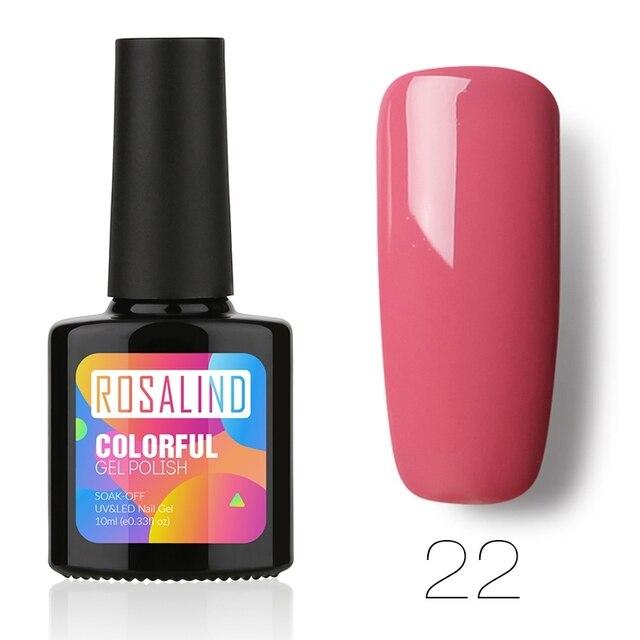 ROSALIND Gel 1S P+Black Bottle 10ML HOT SALE 29 COLOR Gel Nail Polish Nail Art UV LED Gel Polish Semi Permanent Varnish