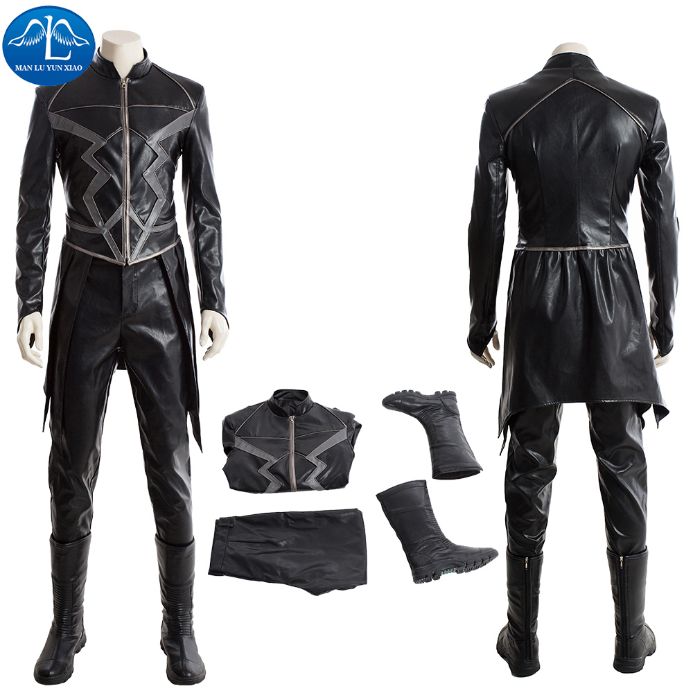 ManLuYunXiao Movie Inhumans Cosplay Costume Men Black Bolt Costume Halloween Costumes For Men High Quality Custom Made