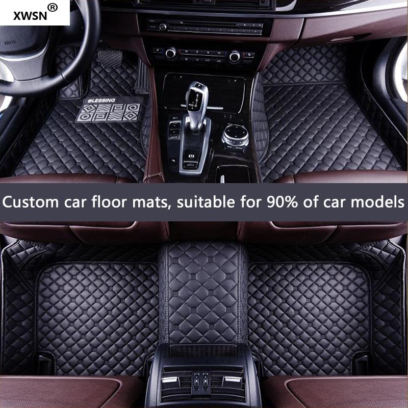 XWSN custom car floor mats for Lincoln all models Navigator MKC MKX MKT MKZ MKS car accessories floor mats for cars