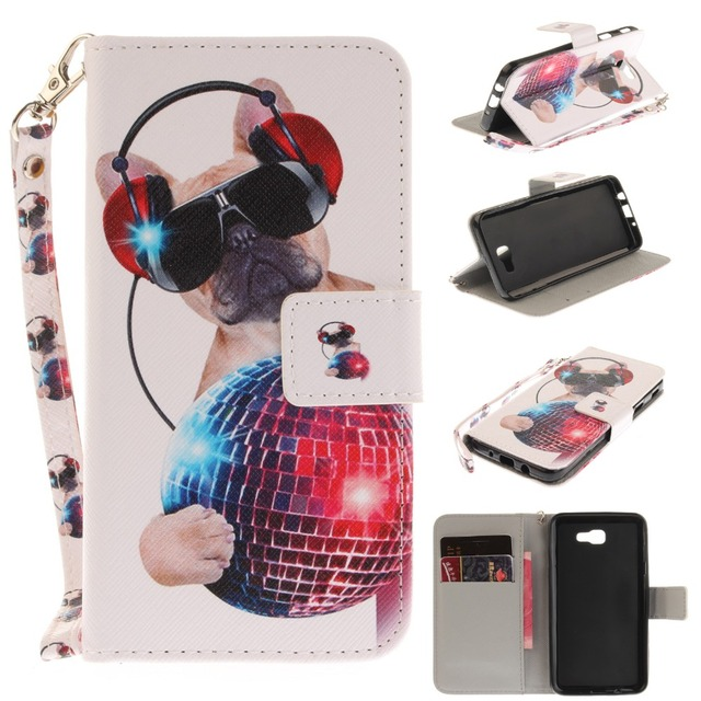 sFor Samsung J5 Prime G570 sm-G570f Ds case cover Fit Flip over Dual SIM Card slots Animal For coque Galaxy J5 Prime Phone Case