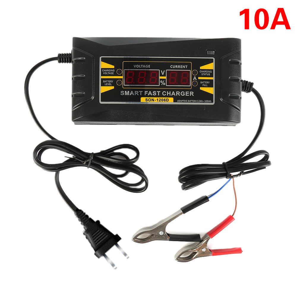 Genuine Full Automatic Smart 12V 10A Lead Acid GEL font b Battery b font Charger w