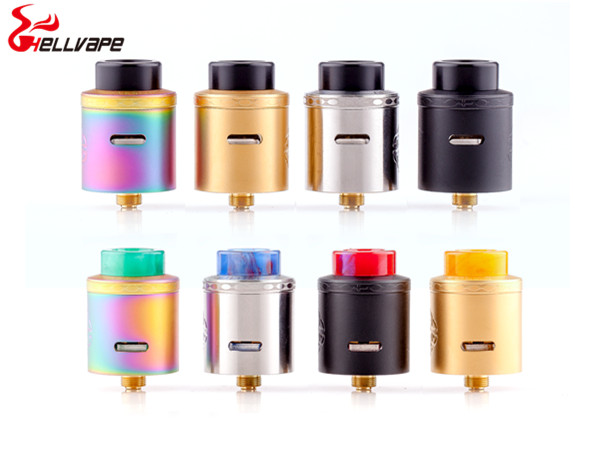 original Hellvape Aequitas 24 BF RDA e Cigarette atomizer fit for squeeze BF mod Gold-plated post-less raised style deck