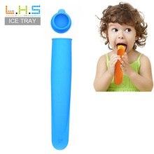 купить HS010 Candy color food-grade silicone DIY summer ice, holding Popsicle mold  ice mold ice cream sticks 22*5.8*3.3cm дешево