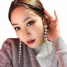 Luxury Crystal Long Earrings For Women White Stone Party Wedding Fashion Jewelry Statement Big Earrings Valentine's Day Gifts(China)