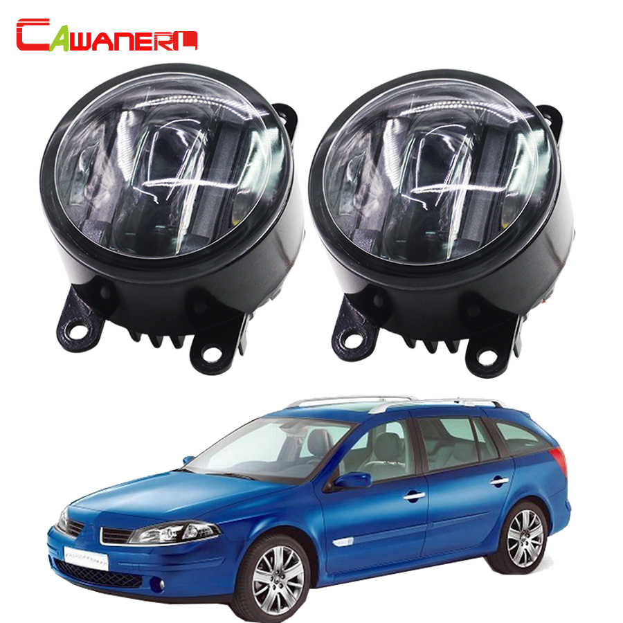 Cawanerl For Renault Luguna Coupe Grandtour Car Accessories LED Right + Left Fog Light DRL Daytime Running Lamp 2 Pieces buildreamen2 2 pieces car led light front left right fog light drl daytime running light white for toyota blade altis ist