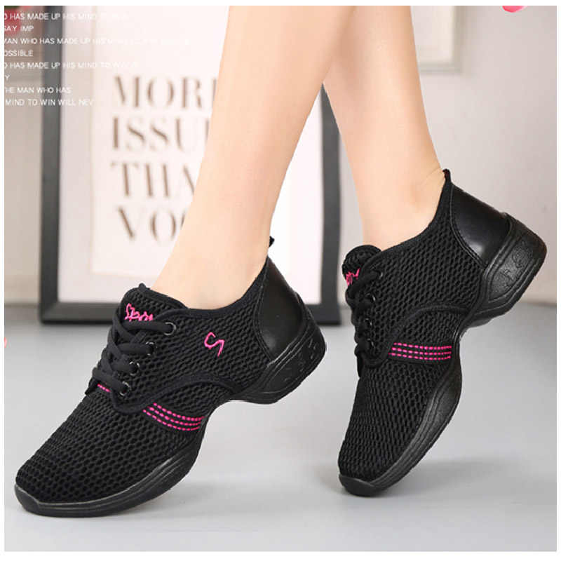 Nancy tino 여성 전문 댄스 신발 스포츠 소프트 outsole 숙녀 통기성 연습 신발 현대 재즈 댄스 신발 스니커즈