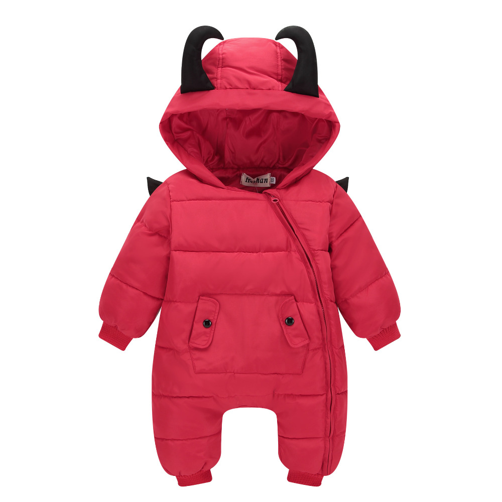 Winter Baby Rompers Enhanced jumpsuit Character Hooded Keep Warm Down Cotto Boys Girls Jumpsuit High Quality Baby Clothes 0-3T 2017 adorable hotest toddler baby girls boys warm hat winter hooded scarf ear flap knitted cap cute gift suit for 1 3 t