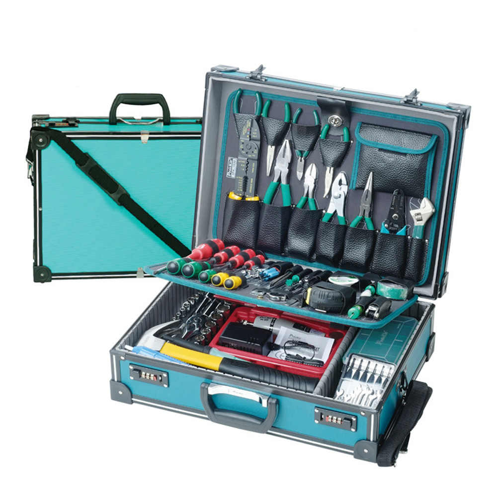 Pro'sKit 1PK-1990B 109 In 1 Professional Electronic Maintenance Tools Group Kit Electrician Maintenance Welding Tools Sets