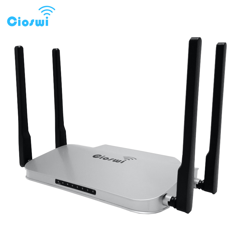 Image 2 - MT7621 gigabit 2.4g 5g routers 512MB RAM usb access point wifi 1200mbps 1 WAN 4 LAN Ports-in Wireless Routers from Computer & Office