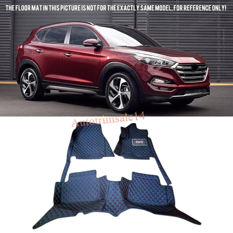 Tapis de sol et tapis en cuir intérieur tapis de pied de voiture pour Hyundai Tucson 2016 2017 2018