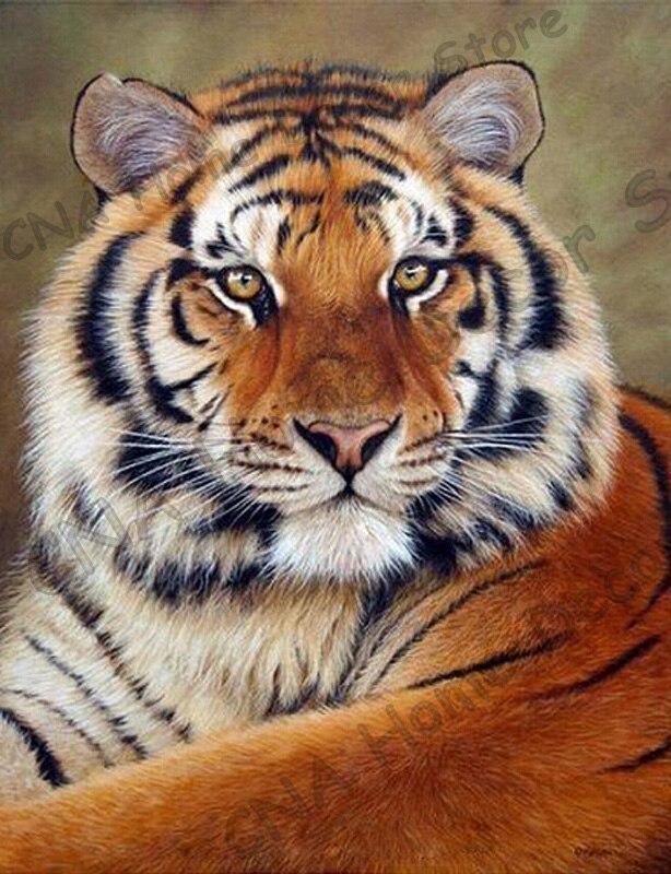 Tiger taladro completo Mosaico 5D Diy Diamond Bordado Pintura Resina - Artes, artesanía y costura - foto 5