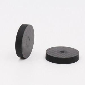 Image 2 - Isf0001 preto fibra de carbono alto falante isolamento 25x5mm spike base almofada sapato pés alta fidelidade 4 pçs