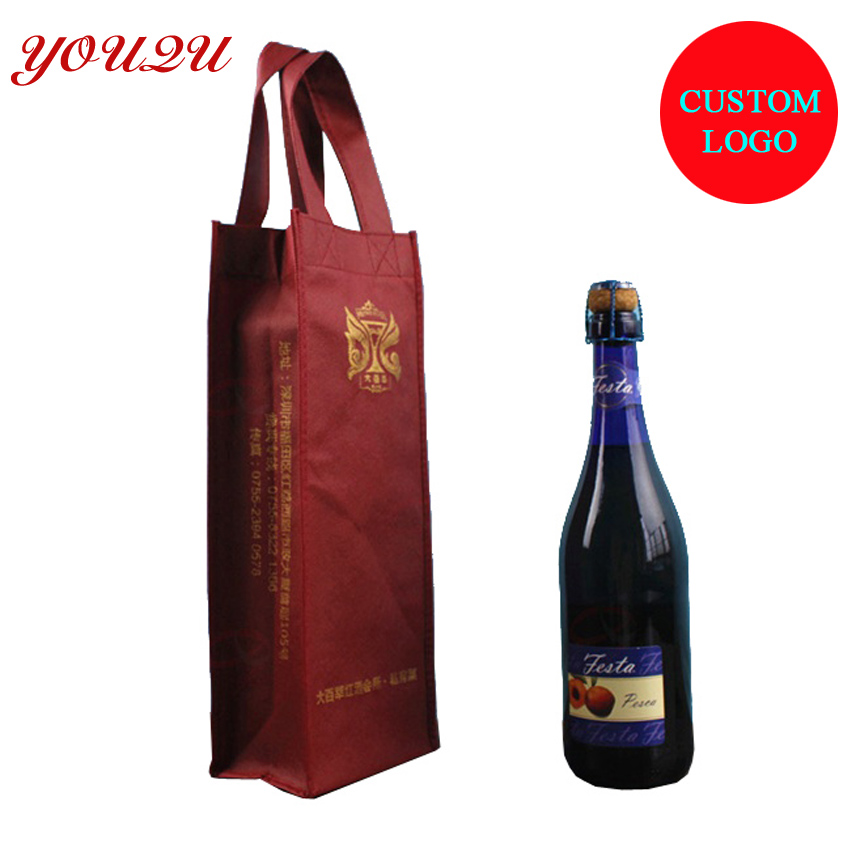 Wine shopping bag with logo printing