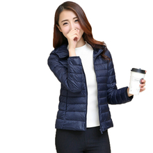 WAEOLSA Woman Winter Jacket Hooded Puffer Coats Women Short Puff Outerwear Lightweight Warm Jackets Lady Basic Coat Hood Padded