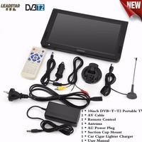 10 Inch Digital Analog Televisions DVB T T2 1024x600 Resolution Portable TV AU Plug 1500mAh Rechargeable