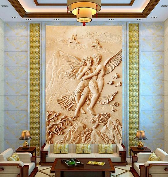 Custom  Luxury 3D Wallpaper, Romantic Angel For The Living Room Bedroom Wall TV Background Wall Waterproof Papel De Parede