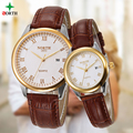 2 PCS/ 1 Lot Lovers Watch Fashion Design Couple Dress Wristwatch Casual Leather Waterproof Men Women Sport Clock Lovers Watch