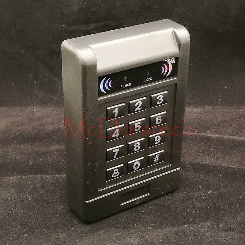 Contact-less 125khz RFID standalone access control card reader with digital keypad for home/apartment/factory Door security unit