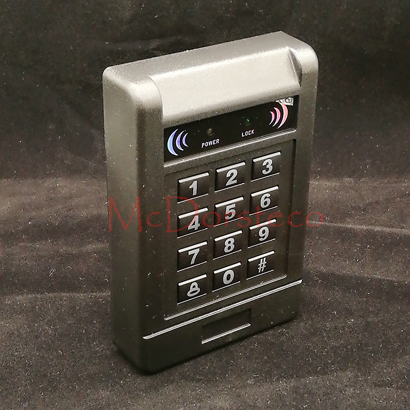 Contact-less 125khz RFID standalone access control card reader with digital keypad for home/apartment/factory Door security unit waterproof card reader 125khz rfid card reader door access control system for home security for home security f1705h