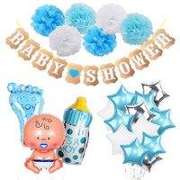 Baby Shower Jongen Meisje Opknoping Decoratie Het EEN Jongen Meisje Oh Baby Ballon Geslacht Onthullen Kids Verjaardagsfeestje Decoratie levert 75 2