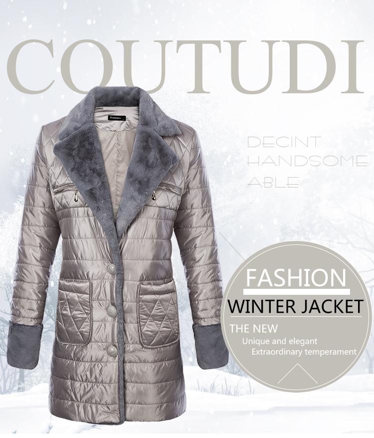 2018 ukraine stilvolle baumwolle jacke herbst winter frauen langen mantel  parkas pelz gefüttert kragen warme weibliche outwear mäntel cef215feb0
