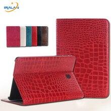 Patrón de Lujo Del Cocodrilo Cubierta de Cuero de alta Calidad Para Samsung Galaxy Tab S2 8.0 T710 T715 Tablet + Stylus pen + pantalla película