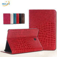 Hoge Kwaliteit Luxe Crocodile Patroon Leather Case Cover Voor Samsung Galaxy Tab S2 8.0 T710 T715 Tablet + Stylus pen + screen Film(China)