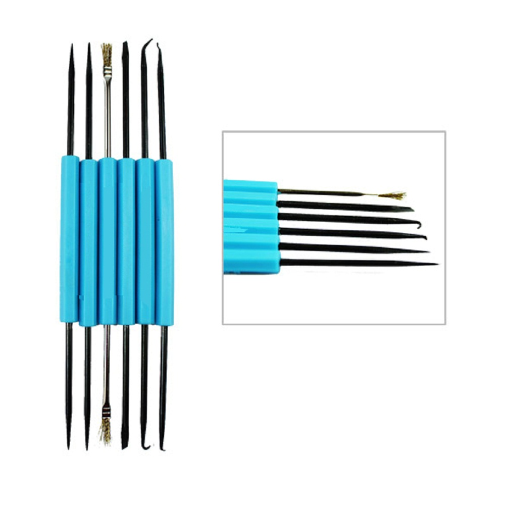 6pcs/lot Professional Steel Solder Assist Repair Tool Set Electronic Components Welding Grinding Cleaning Repairing Tools 147 pcs portable professional watch repair tool kit set solid hammer spring bar remover watchmaker tools watch adjustment