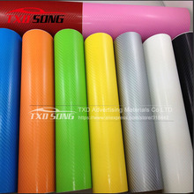 Premium quality Free Shipping 4D Carbon Fiber Vinyl Film 3M Car Sticker Waterproof DIY Car Styling Color Wrap Vinyl Film(China)