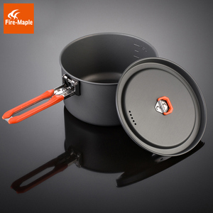 Image 3 - Fire Maple Feast 3 Outdoor Camping Hiking Cookware Backpacking Cooking Picnic Pot Pan Set Foldable Handle 2 Pots 1 Frypan FMC F3