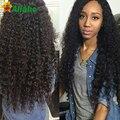 7a Brazilian Kinky Curly Virgin Hair With Closure 4 Bundles Virgin Brazillian Curly Hair With Closure Unice Hair With Closure