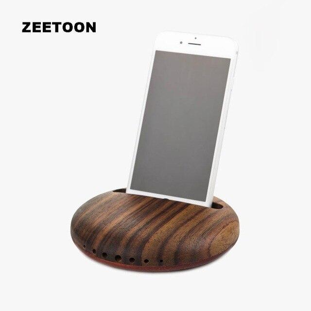 Creative Wood Mobile Phone Holder Convenient Speaker Outdoor Car ...