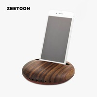 Creative Wood Mobile Phone Holder Convenient Speaker Outdoor Car Home Office Storage Decor For IPhone 6