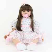 60cm Silicone Reborn Baby Doll Toy Vinyl