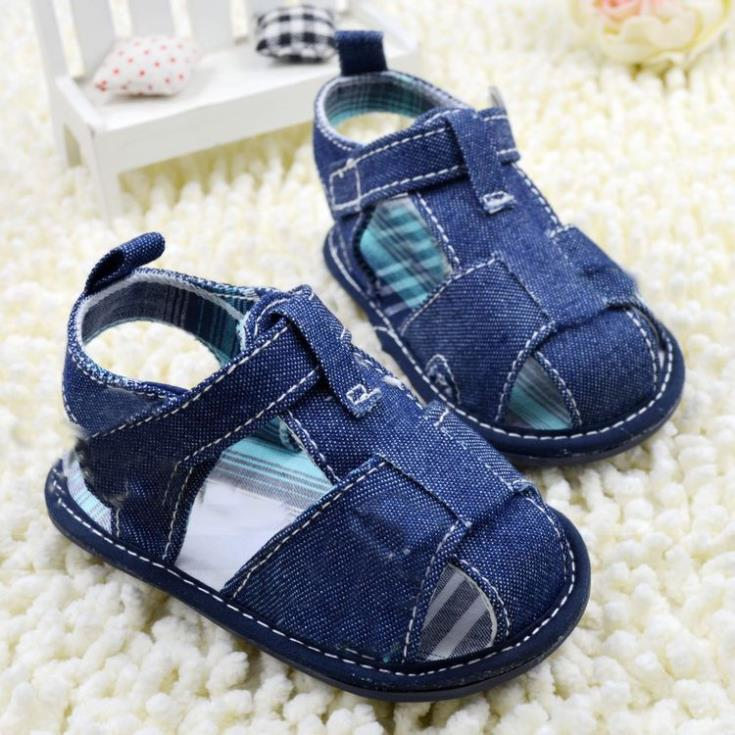 2019 Summer New Baby Prewalker Blue Jeans Baby Shoes Toddler Sandal Baby Boy Jeans Shoes
