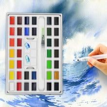 Superior 12/24/36 Cores a Cor Da Água Sólida Conjunto Tinta Com Pigmento Para A Arte Da Pintura de Água Escova Portátil suprimentos Artista Aquarela