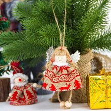 Christmas Style Christmas Trees Ornaments Mini Wall Door Hanging Decor or Hanging Decor Santa Claus Angel Xmas Cute Kids Gifts